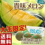 メロン 茨城産『貴味メロン(青肉)』大玉 3〜4玉 約4.5kg 送料無料画像