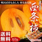 《送料無料》鳥取県産 「西条柿」 2?3L 秀品 12?14玉(約2.5kg) ※常温 frt ○