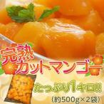タイ産 マハチャノック種 『完熟カットマンゴー』 約500g×2袋 たっぷり1キロ ※冷凍 【冷凍同梱OK】