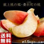 もも 桃 モモ 福島県産 献上桃の郷 桑折町 特選「雅」 約1.5kg(5〜6玉) 常温 送料無料 ギフト 贈答