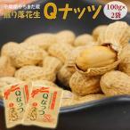 Qなっつ キューナッツ 節分 節分豆 豆まき 千葉県八街産 焙煎 煎り豆 100g×2袋 落花生 ピーナッツ 送料無料 ゆうパケット