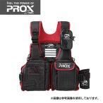 PROX プロックス フローティングゲームベスト 大人用フリー ブラック×レッド PX399KR