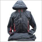 極上品 ダイワ レインマックス D3 バリアスーツ D3-3306 ブラック×レッド M/R665L