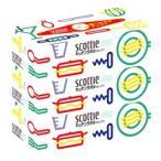 日本製紙 クレシア スコッティ キッチンタオル ボックス (150枚(75組)×3箱パック) キッチンペーパー