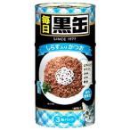 アイシア 毎日 黒缶 しらす入りかつお (160g×3缶) 総合栄養食 キャットフード