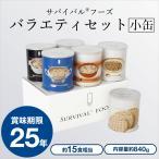 サバイバルフーズ「小缶」バラエティセット(クラッカーx2缶+チキンシチューx1缶+野菜シチューx1缶+洋風とり雑炊x1缶+洋風えび雑炊x1缶)[6缶セット]|