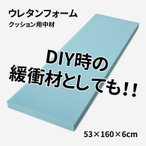 ウレタンフォーム 53×160×6cm 薄青 または 灰色 日焼け有り※お客様からご指摘があり追記しました
