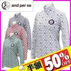【レディース/女性用】andperse アンパスィ 長袖ハイネックシャツ 9216FFP5