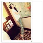 ♪♪スカーフ柄♪パンツ♪ウエストゴム♪ロング☆レディース♪2カラー♪♪