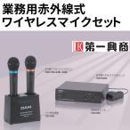 第一興商 赤外線式ワイヤレスマイクセットTDR-4000/マイク2本組