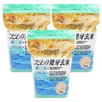 大潟村あきたこまち生産者協会 こだわり発芽玄米 栄養機能食品 鉄分・ビタミンB1・B6強化 1kg × 3袋