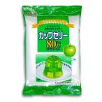 かんてんぱぱ カップゼリー 80℃ 青りんご味 200g (100g×2袋)