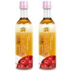 カネショウ フルーツビネガーりんご酢 (飲むりんご酢) 500ml × 2個