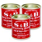 S&B 赤缶 カレー粉 84g × 3缶セット ヱスビー食品 S&Bスパイス