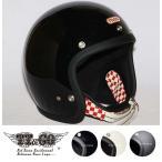 スーパーマグナム ダブルストラップ仕様 レッドチェッカー スモールジェットヘルメット SG/DOT規格品