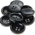 V77 20mm  color.09ブラック  コート対応ボタン老舗テーラー御用達スーツボタン専門店の高級ボタン