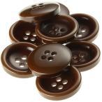 V77 18mm  color.44ブラウン  コート対応ボタン老舗テーラー御用達スーツボタン専門店の高級ボタン