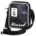 【00XT64-PR184-T8013】DIESEL、ディーゼル、メンズミニショルダーバッグ、ブラック/ホワイト【並行輸入品】【新品】