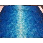 Yahoo!布と手芸 つばめやキャシー中島 プルメリア グラデーション2ラメ入り ブルー 安い おしゃれ 布地 かわいい 生地 ハワイアン ハワイアンキルト