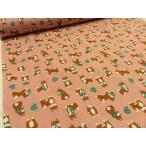 Yahoo!布と手芸 つばめや柴犬のお使い ピンク シーチング 安い おしゃれ 布地 かわいい 生地 手芸 入園 入学