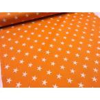 Yahoo!布と手芸 つばめや星柄スター2 オレンジ ツイル生地 安い おしゃれ 布地 かわいい 生地 手芸
