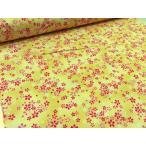 Yahoo!布と手芸 つばめやサザンクロス 和柄ドビー 桜さくら小柄 イエロー 安い おしゃれ 布地 かわいい 生地