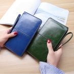 長財布 レディース 7色 ラウンドファスナー 大容量 財布 合成皮革 PU ゆうメール便 代引き不可 送料無料