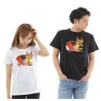 【メール便 送料無料】猫 ねこ ネコ Tシャツ 白 黒 t シャツ メンズ レディース 半袖 ゴロゴロ猫13