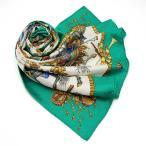 HERMES エルメス カレ 90 LES FETES DU ROI SOLEIL (太陽王の祝典) スカーフ 馬柄 シルク100% クリーニング済 中古