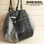 ディーゼル DIESEL ハンドショルダーバッグ 鞄 メンズ レディース 男女兼用 牛革レザー×コットンコンビ ビッグサイズ DIVINA