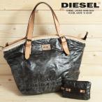 ディーゼル DIESEL ハンドバッグ 鞄 レディース ミニポーチ付き 牛革レザーコンビ ボア ショルダーバッグ D-SIGN