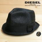 ディーゼル DIESEL 中折れハット 帽子 レディース アクセントバッジ付き ウール裏地 メッシュ CAFED