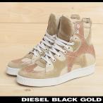 ディーゼルブラックゴールド DIESEL BLACK GOLD ハイカットスニーカー 靴 レディース 本革 レザー スウェード 切替 CLAIRE-SN