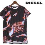 ディーゼル DIESEL Tシャツ カットソー レディース 魚柄 総柄 ロング丈 半袖 T-IXY-A