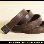 ディーゼルブラックゴールド DIESEL BLACK GOLD ベルト メンズ ヴィンテージ加工 本革 レザー 細ベルト レザーベルト METRI5