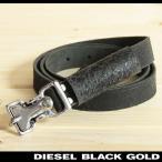 ディーゼルブラックゴールド DIESEL BLACK GOLD ベルト メンズ ヴィンテージ加工 本革 レザー 細ベルト レザーベルト RICERCA17