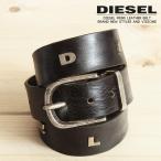 ディーゼル DIESEL ベルト メンズ 牛革 本革 レザー ヴィンテージ サビ加工 ダメージ シングルピン BREG
