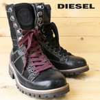 ディーゼル DIESEL ワークブーツ 靴 メンズ 本革 レザー切替 バックジップ JBD