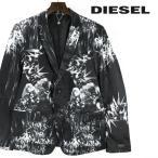 ディーゼル DIESEL テーラードジャケット メンズ 水彩柄 和柄 総柄 微光沢サテン 2B 2釦 シングルブレスト J-HEIMO