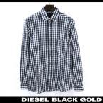 ディーゼルブラックゴールド DIESEL BLACK GOLD ドレスシャツ メンズ オーバーチェック柄 コットン カジュアルシャツ SEMMI-REY