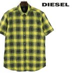 ディーゼル DIESEL 半袖シャツ メンズ チェック柄 タータンチェック オーバーチェック コットンシャツ S-EDITH