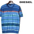 ディーゼル DIESEL コットンニットセーター メンズ クルーネック ボーダー柄 半袖 ハイゲージ K-KNOTY