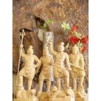 〜木彫り 仏像 四天王(持国天・広目天・多門天・増長天)一刀彫 / 素材:柘植