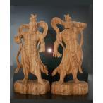〜木彫り 仏像 仁王像(金剛力士)〜  一刀彫 / 素材:けやき