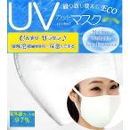 ツーヨン洗えるマスク UVカットマスク 2枚入り 布マスク おしゃれ UV対策 耳が痛くならないフラットテープ使用