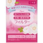 マスク・保湿用抗ウイルス対策・花粉・風邪対策フィルター(6枚入り)2セット