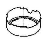 コロナ部品:バーナヘッドリング/990219889004石油ファンヒーター用〔メール便対応可〕