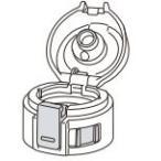 象印部品:せんカバーセット(クリアレッド)/BB402808L-17ステンレスマグ用〔60g〕〔メール便対応可〕