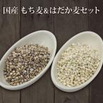 雅虎商城 - 1kg×2個 国産 もち麦&押はだか麦 大麦 食べ比べセット 2kg