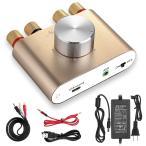 Yahoo!Tweedia[新商品] Nobsound NS-01G Pro パワーアンプ bluetooth 50W×2 アンプ スピーカー HiFi オーディオ 電源付き (ゴールド)